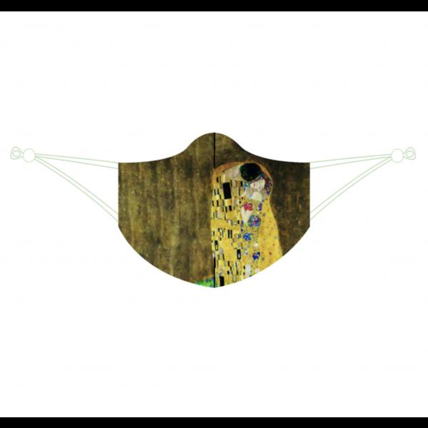 Durable face mask Klimt's kiss