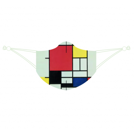 Robuste Mundmaske Mondrian