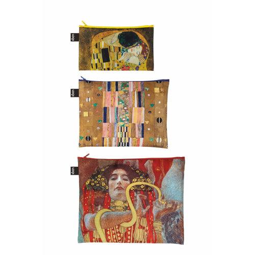 3 poches zippées Klimt