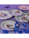 6 verschiedene holländische Blumen Dessert / Frühstück Teller