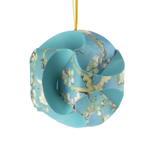 Boule de Noël 'Almond Blossom' pliable