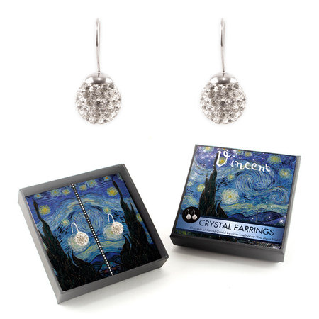 Starry night crystal earrings