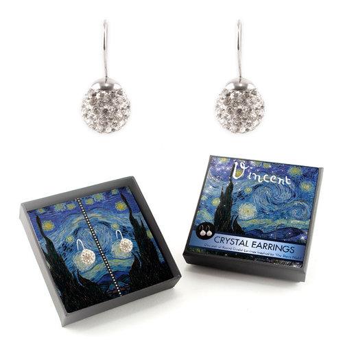 Boucles d'oreilles en cristal de nuit étoilée