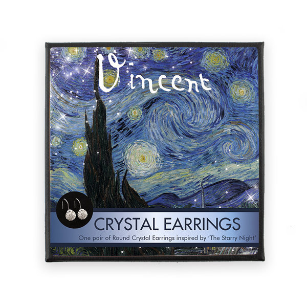 Starry night kristallen oorbellen