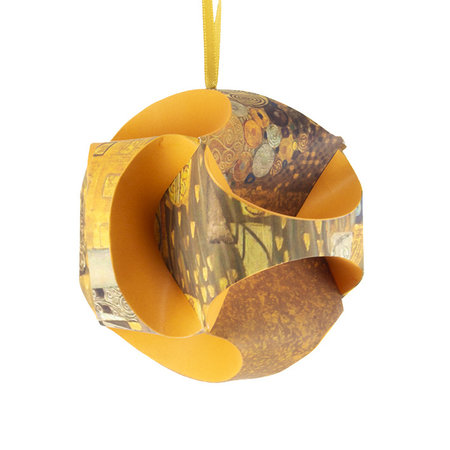 Christmas bauble 'Klimt' foldable