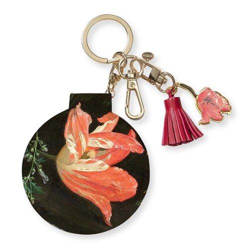 Porte-clés avec des tulipes par Abraham Mignon