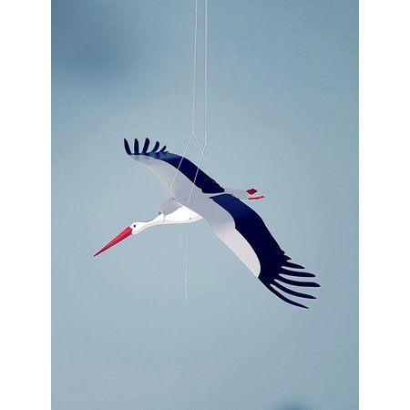 Stork fold itself into card