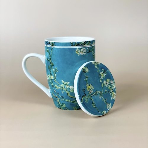 Tea cup with infuser Van Gogh Almond Blossom
