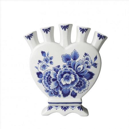 Tulpenvaas Delfts blauw hartvorm