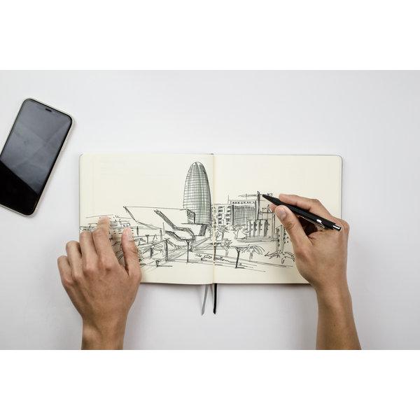 """Notitieboek met elastische organizer """"Flex"""" Geel"""