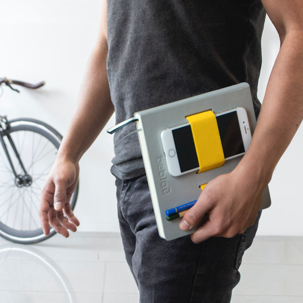 "Notebook with elastic organizer ""Flex"" Yellow"