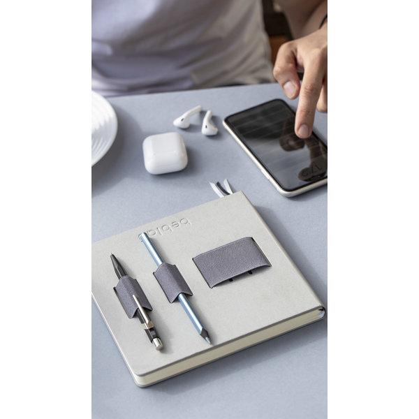 """Notebook mit elastischem Organizer """"Flex"""" Grau"""
