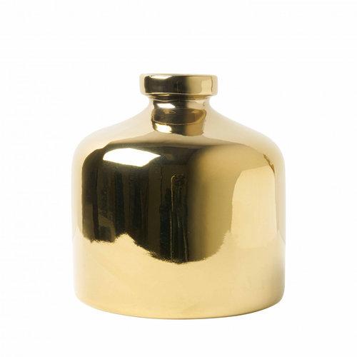 Vase rond doré