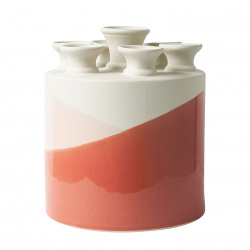 Dip and dye tulip vase coral to pink