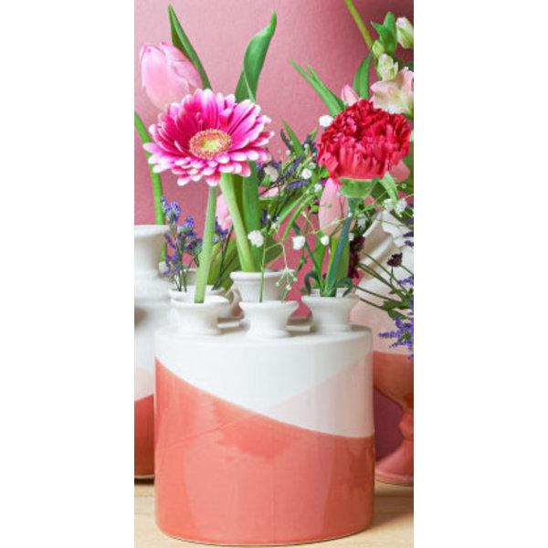 Dip en dye tulpenvaas koraal naar rose