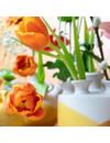 Dip and dye tulip vase ocher