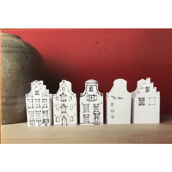 Canal houses sticky notes