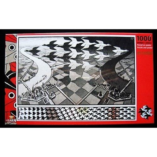 Puzzel Escher dag en nacht