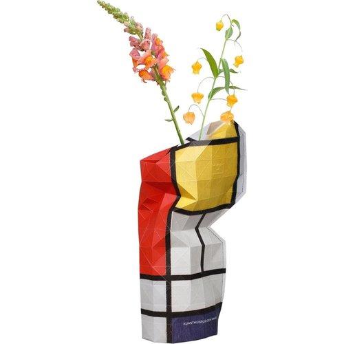 Papiervase Mondrian