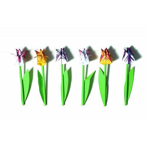 Piet Design Foldable tulips