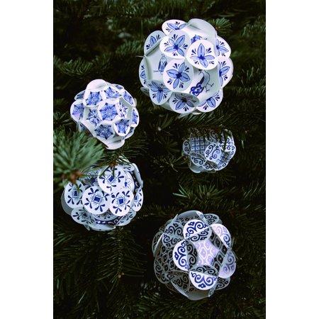 Boules de Noël bleu Delft