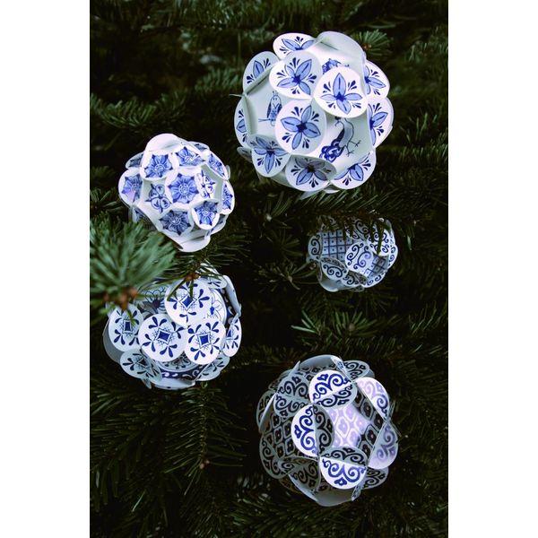 Delft blaue Weihnachtskugeln