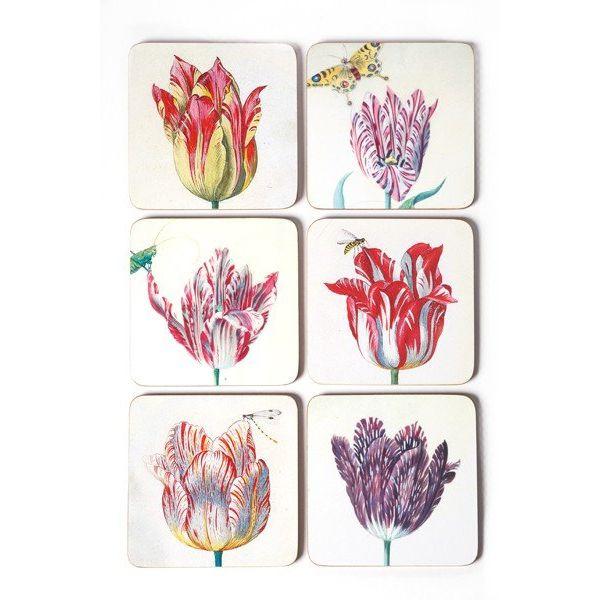 Onderzetters - Tulpen illustraties van Jakob Marrel
