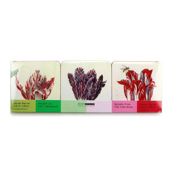 Coasters - Tulips illustrations by Jakob Marrel