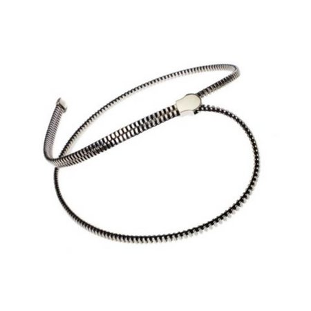 Reißverschlusskette silber