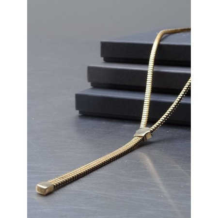 Zipper gold plated