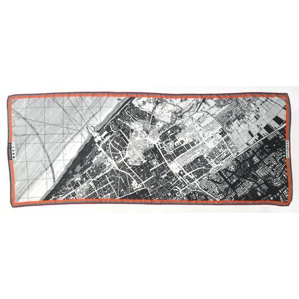 Sjaal Plattegrond Den Haag (cashmere-modal)