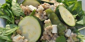 Boekweit salade met groene groenten