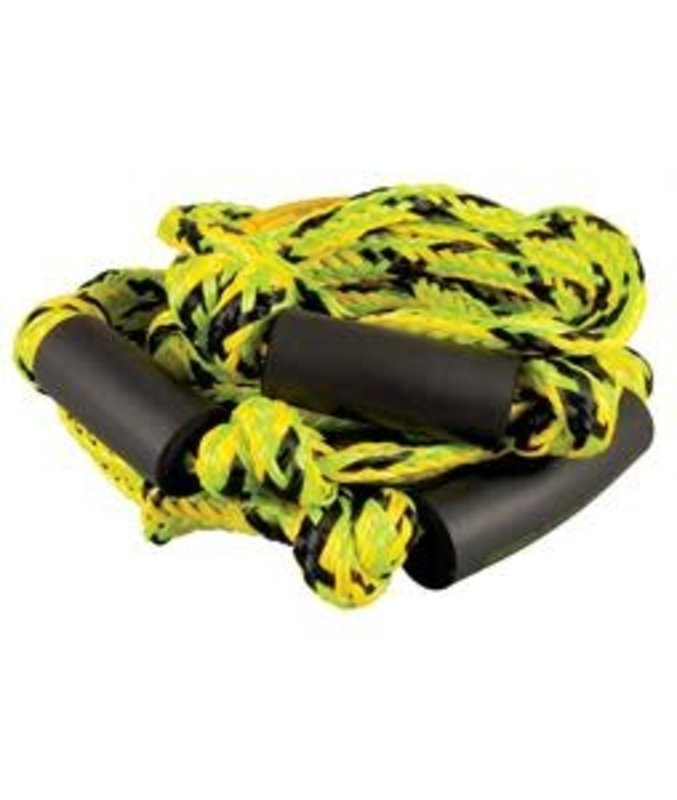 Straight LIne Green/Yellow  Knotted Surf Rope