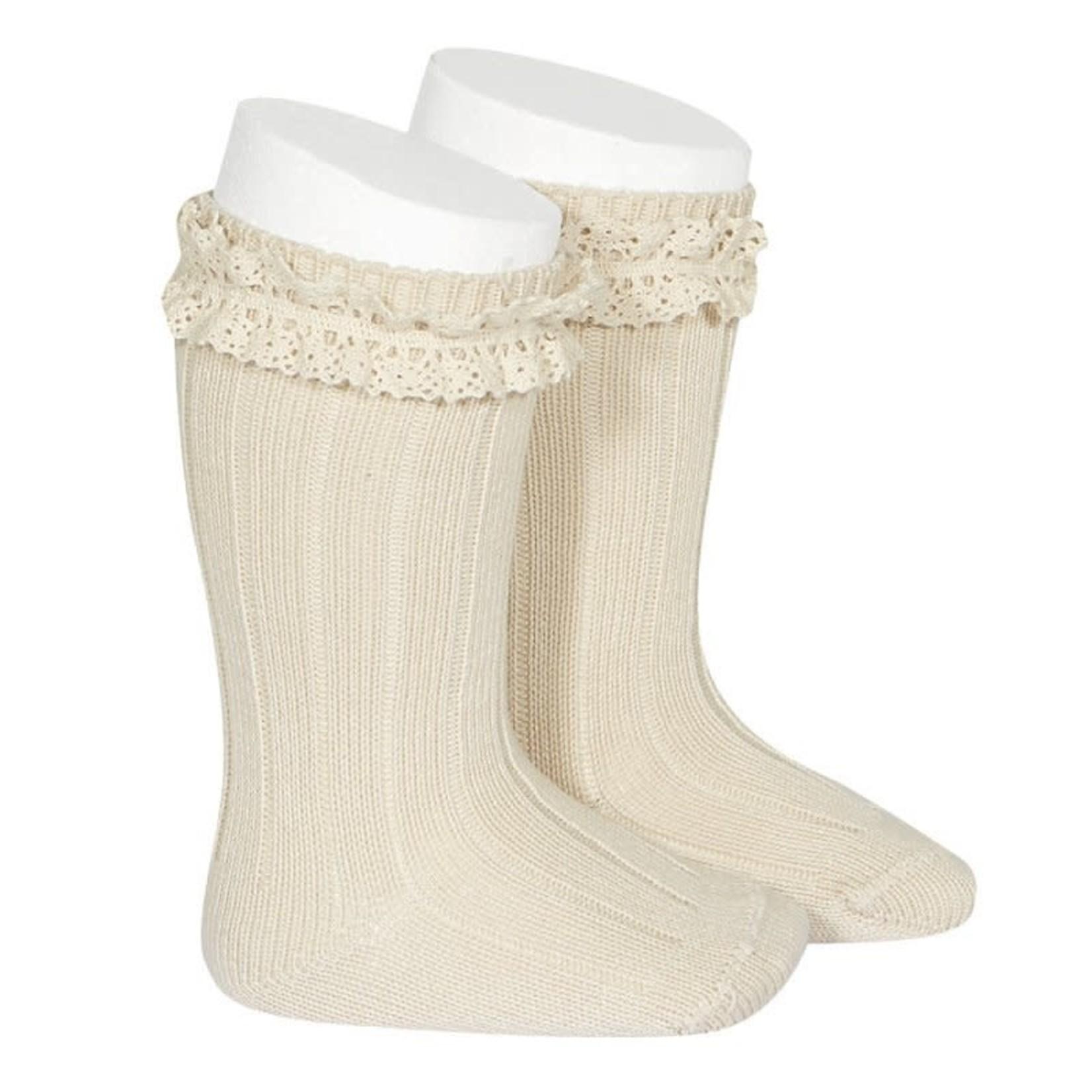 Condor Rib Socks Vintage - Lino