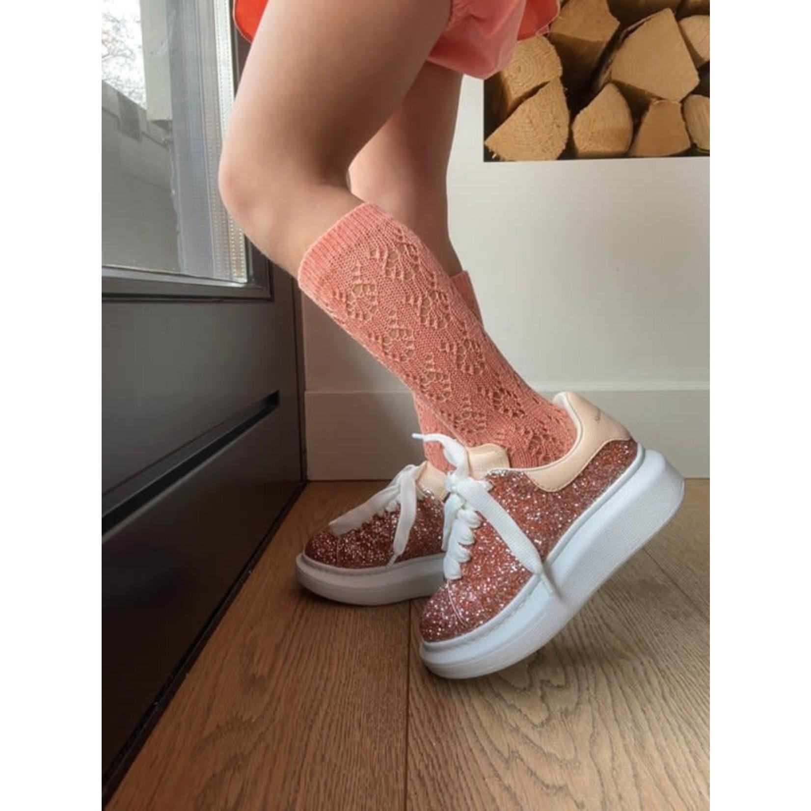 Socks Open - Peach