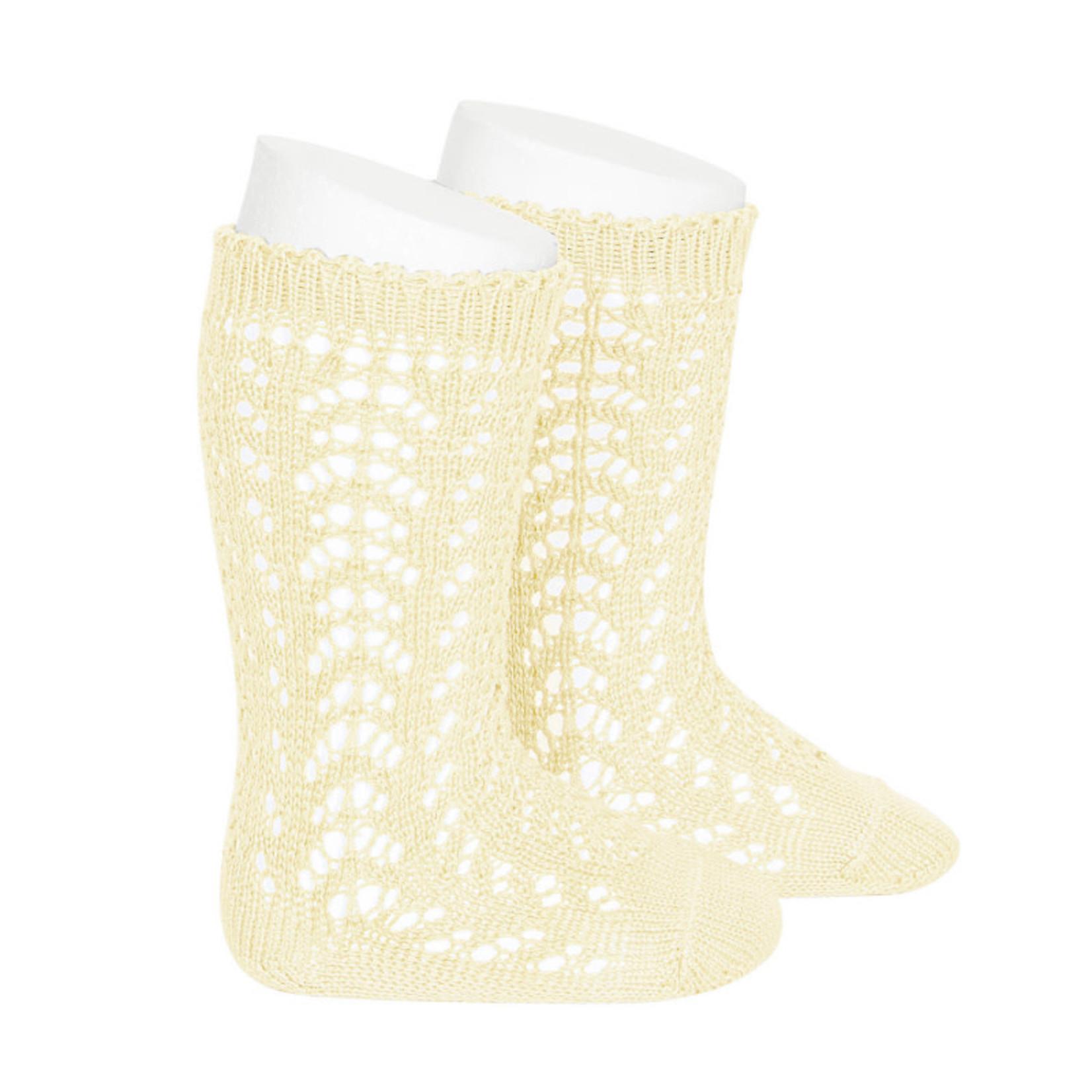 Socks Open - Pale Yellow
