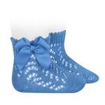 Socks Open w/Bow - Mavy