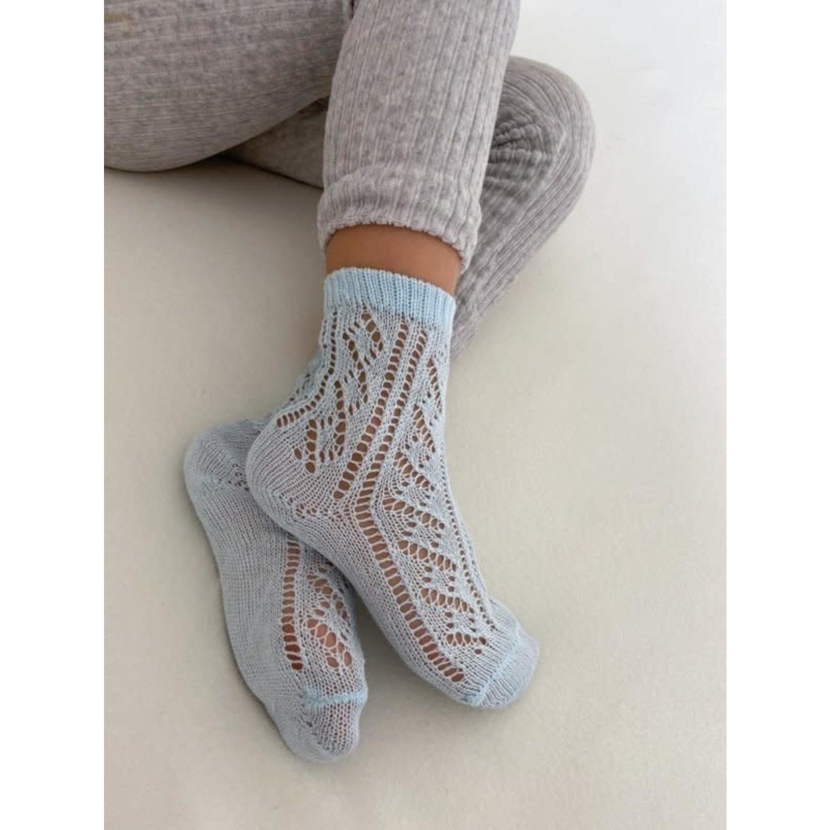 Socks Open - Light Blue