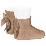 Socks Open b/Bow - Camel