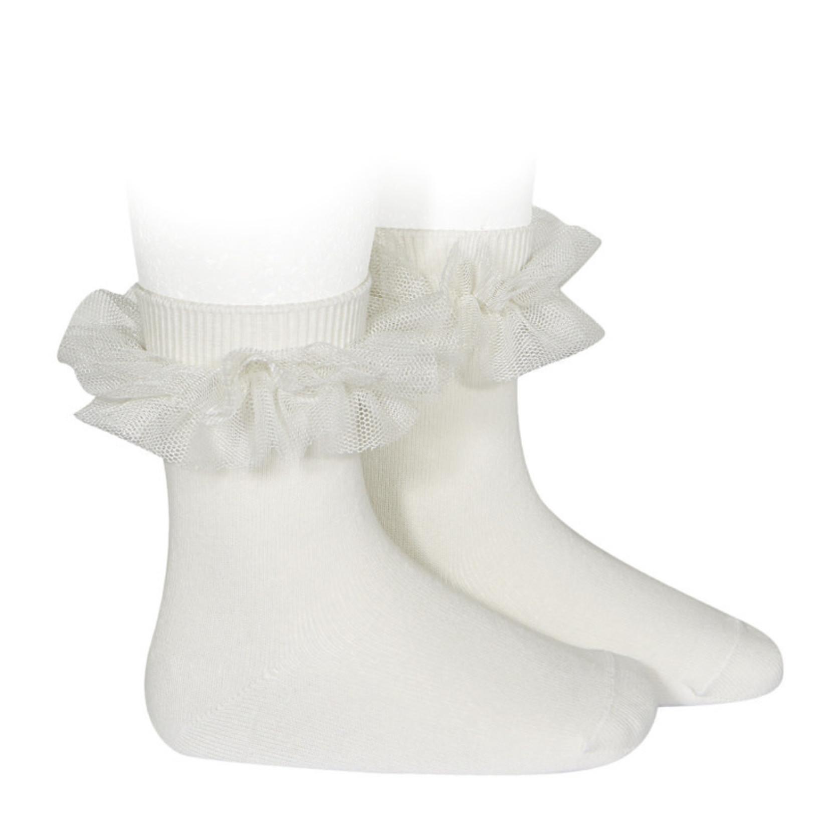 Condor Socks Ruffle - Creme