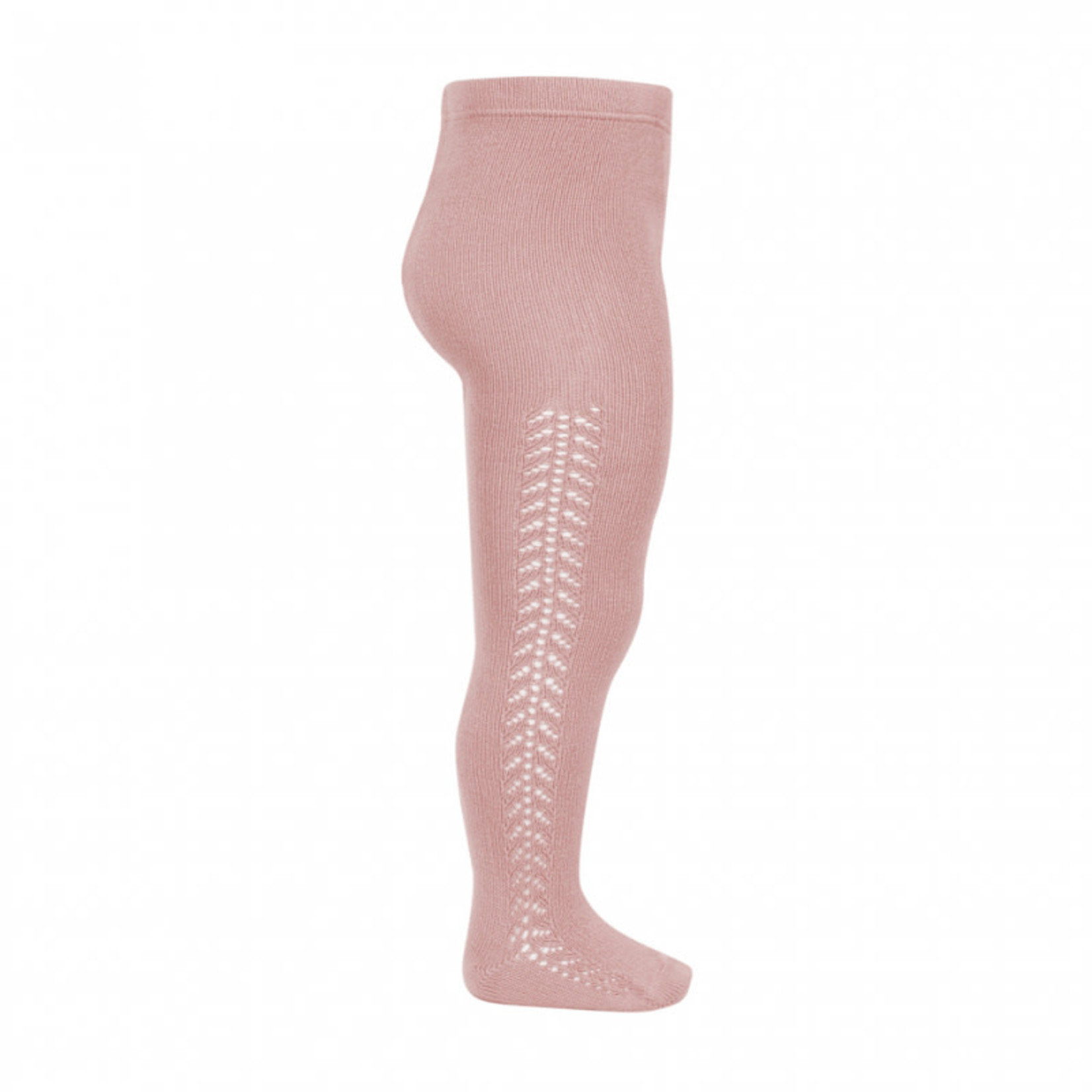 Side Openwork Tight - Pale Pink