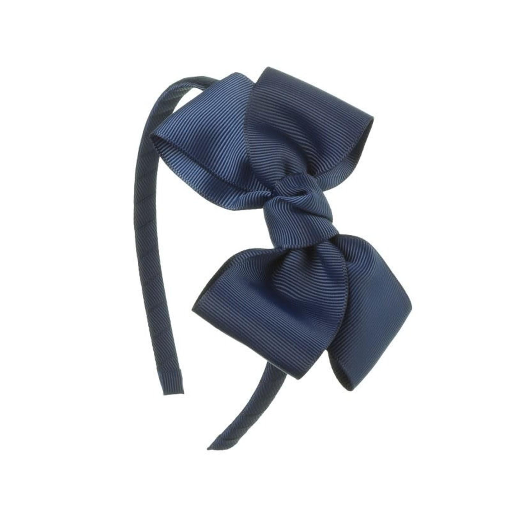 Siena Diadeem Butterfly Bow - Navy