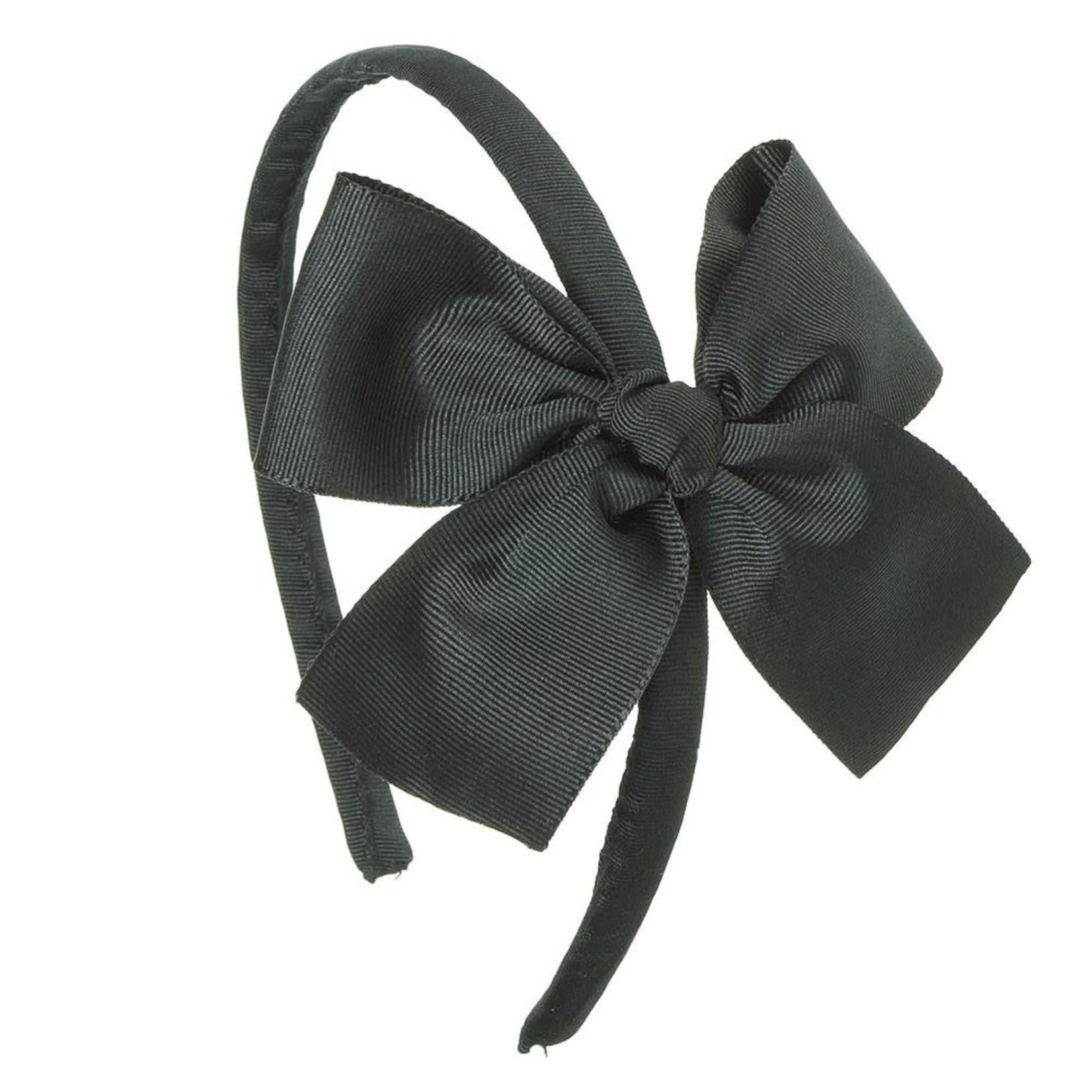 Diadeem Large Bow - Zwart
