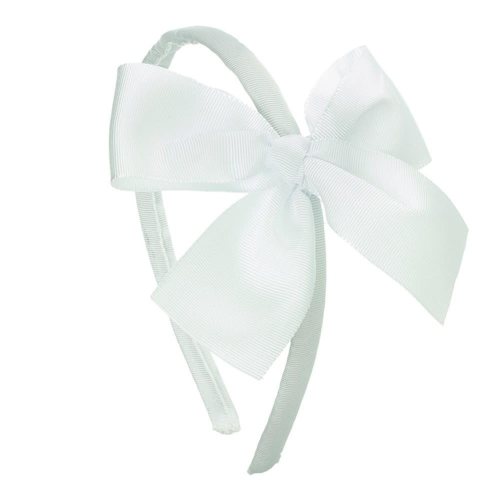 Siena Diadeem Large Bow - White