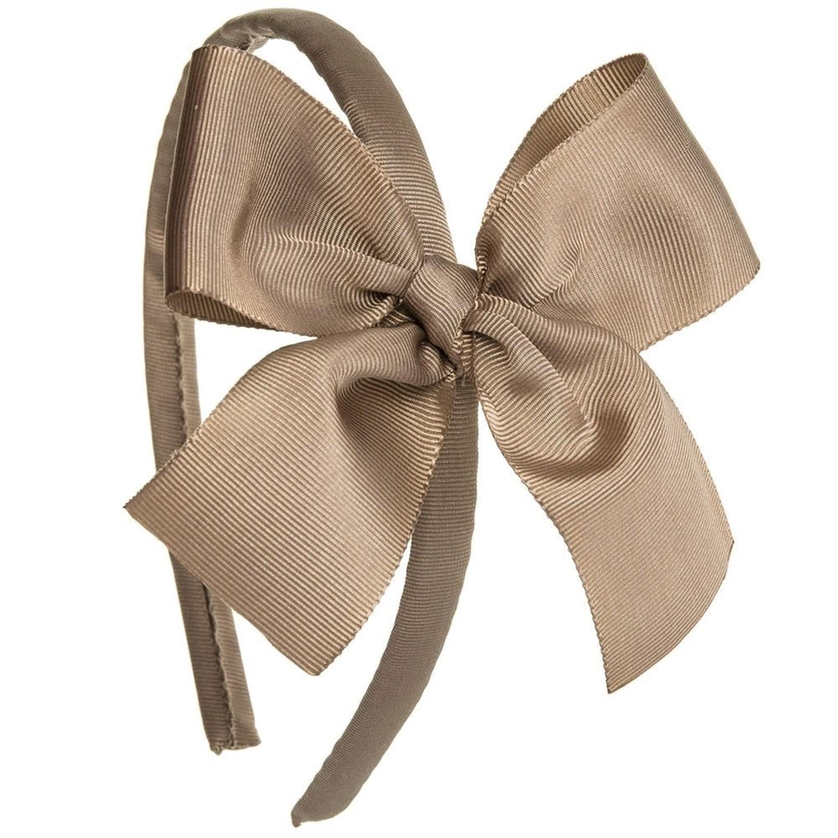 Siena Diadeem Large Bow - Brown