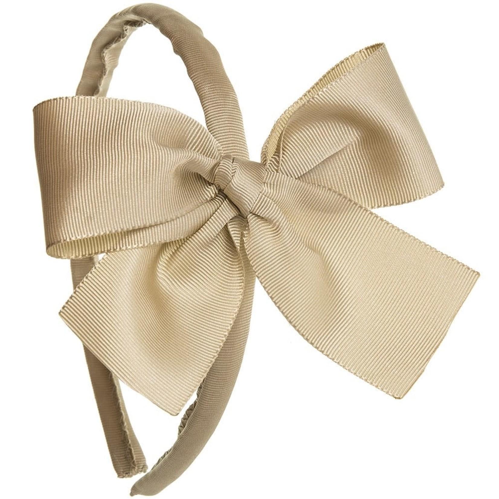 Siena Diadeem Large Bow - Beige