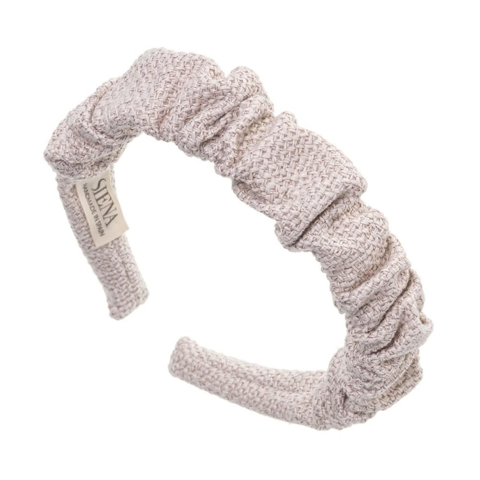 Siena Hairband Scrunchie - Light Beige