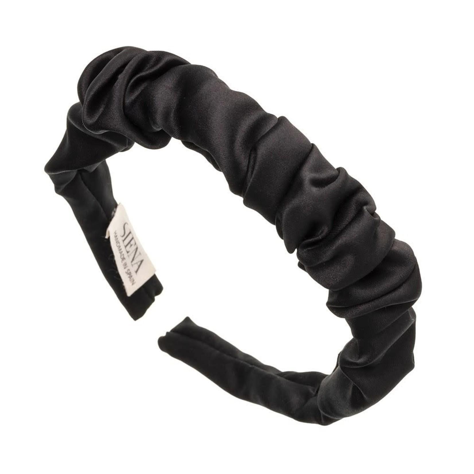Siena Hairband Scrunchie Satin - Black