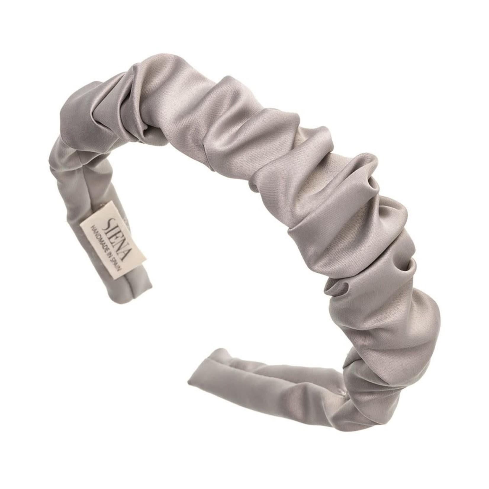 Siena Hairband Scrunchie Satin -  Gray