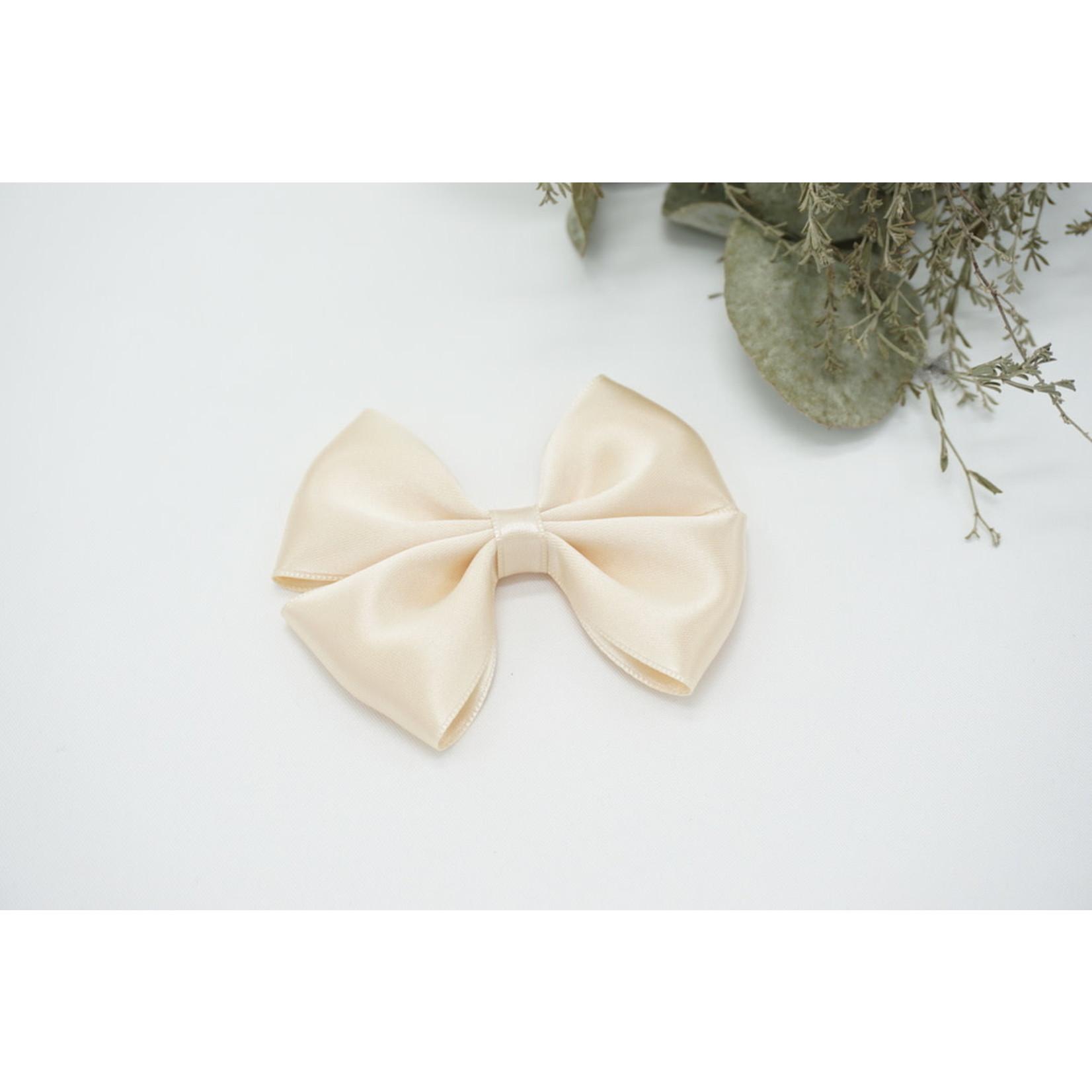 Satin Bow - Antique White
